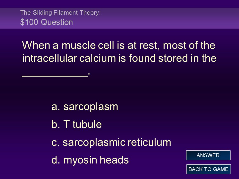 The Sliding Filament Theory: $100 Question