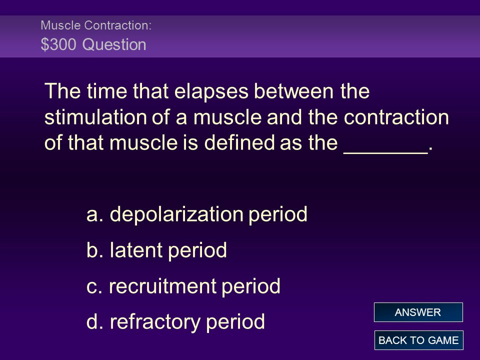 Muscle Contraction: $300 Question