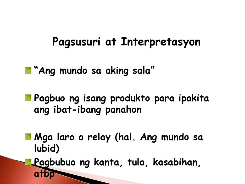 Pagsusuri at Interpretasyon