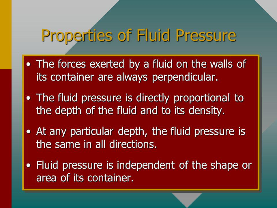Properties of Fluid Pressure