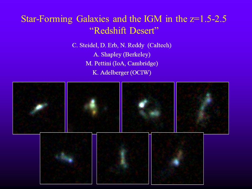 Star-Forming Galaxies and the IGM in the z=1.5-2.5 Redshift Desert