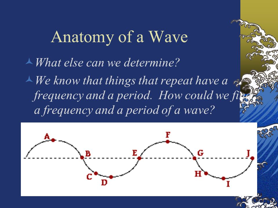 Anatomy of a Wave What else can we determine