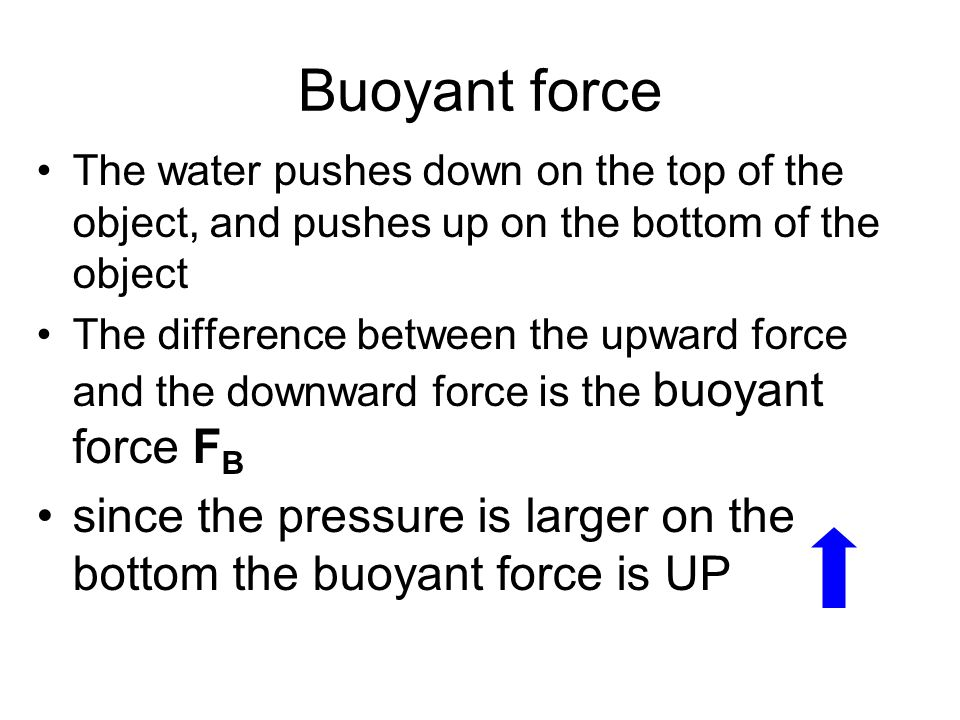 how to find buoyant force of a submerged object
