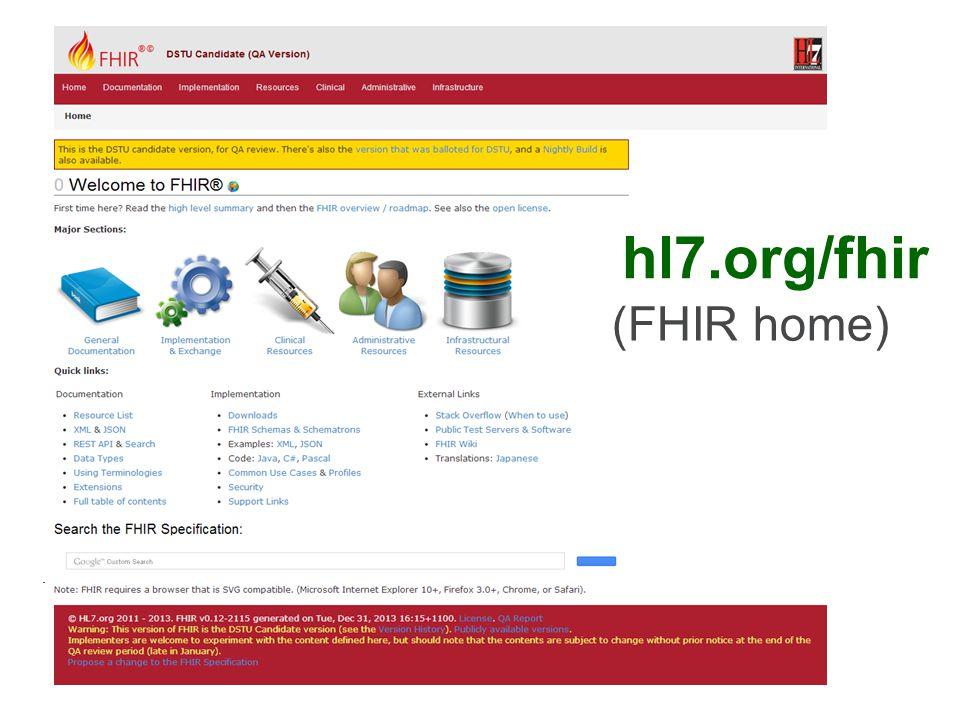 hl7.org/fhir (FHIR home)