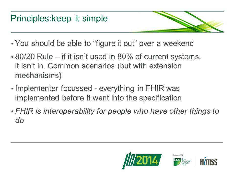 Principles:keep it simple