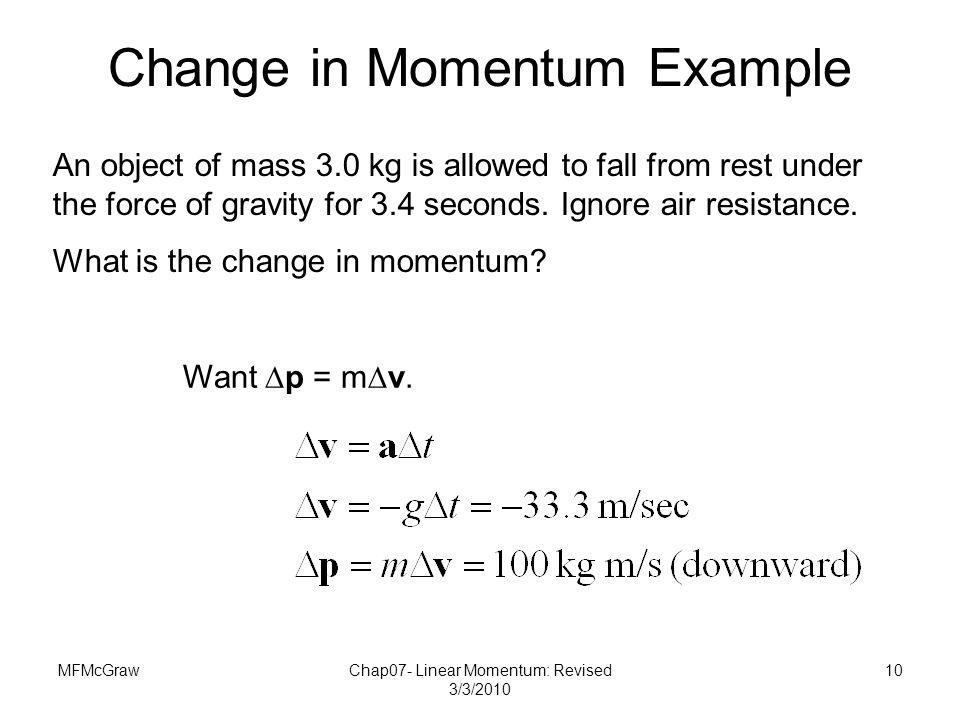 Change in Momentum Example