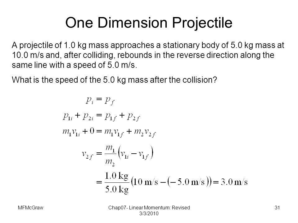 One Dimension Projectile