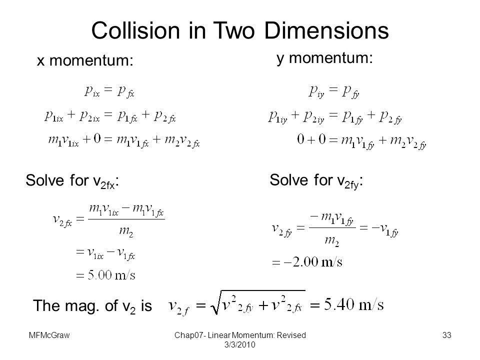 Collision in Two Dimensions