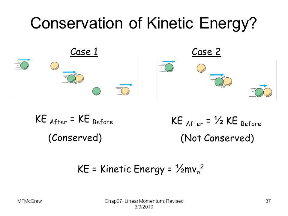 Conservation of Kinetic Energy