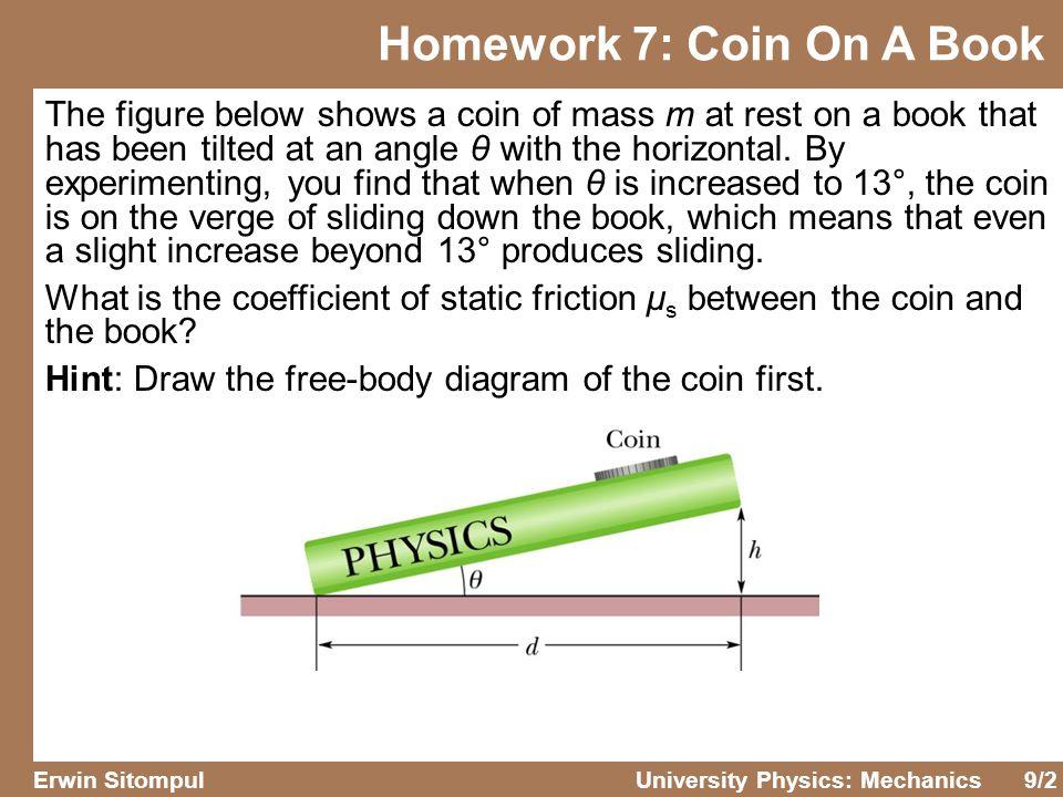 Homework 7: Coin On A Book