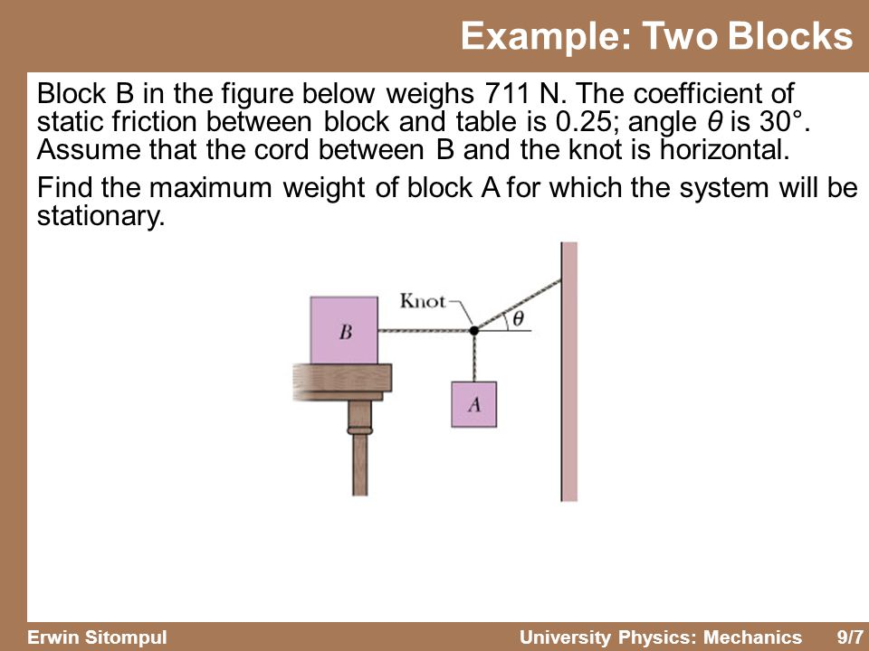 Example: Two Blocks