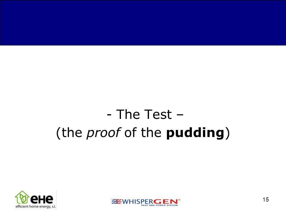 (the proof of the pudding)
