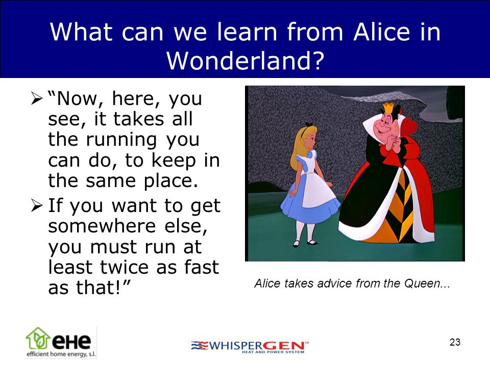 What can we learn from Alice in Wonderland