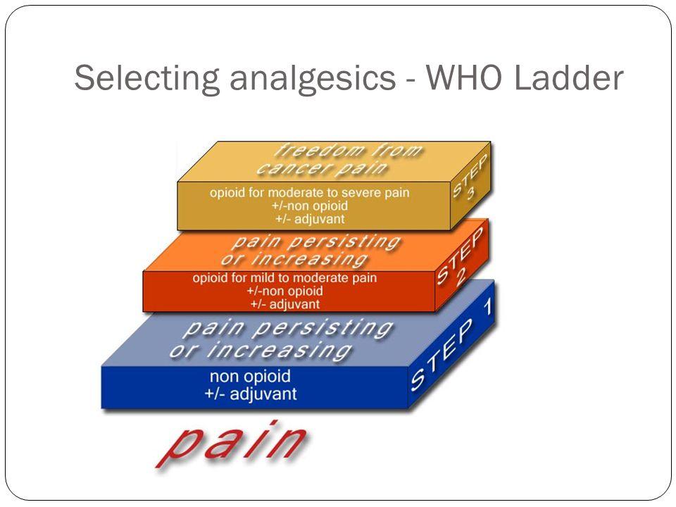 Selecting analgesics - WHO Ladder
