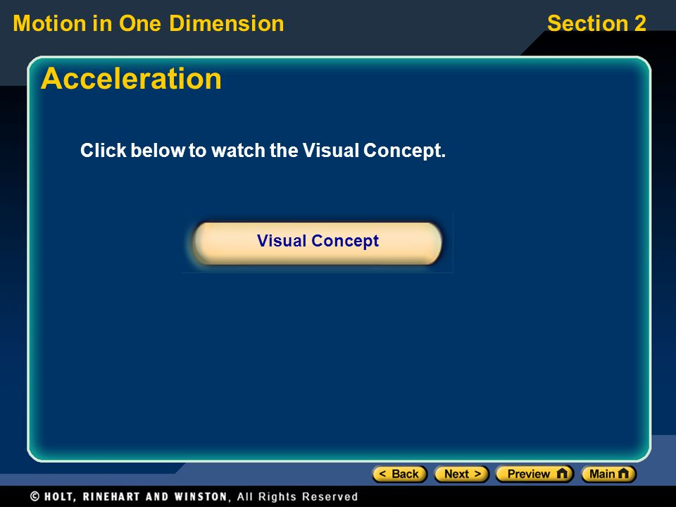 Acceleration Click below to watch the Visual Concept. Visual Concept