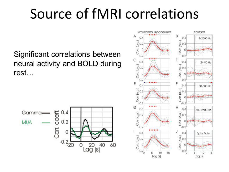 Source of fMRI correlations