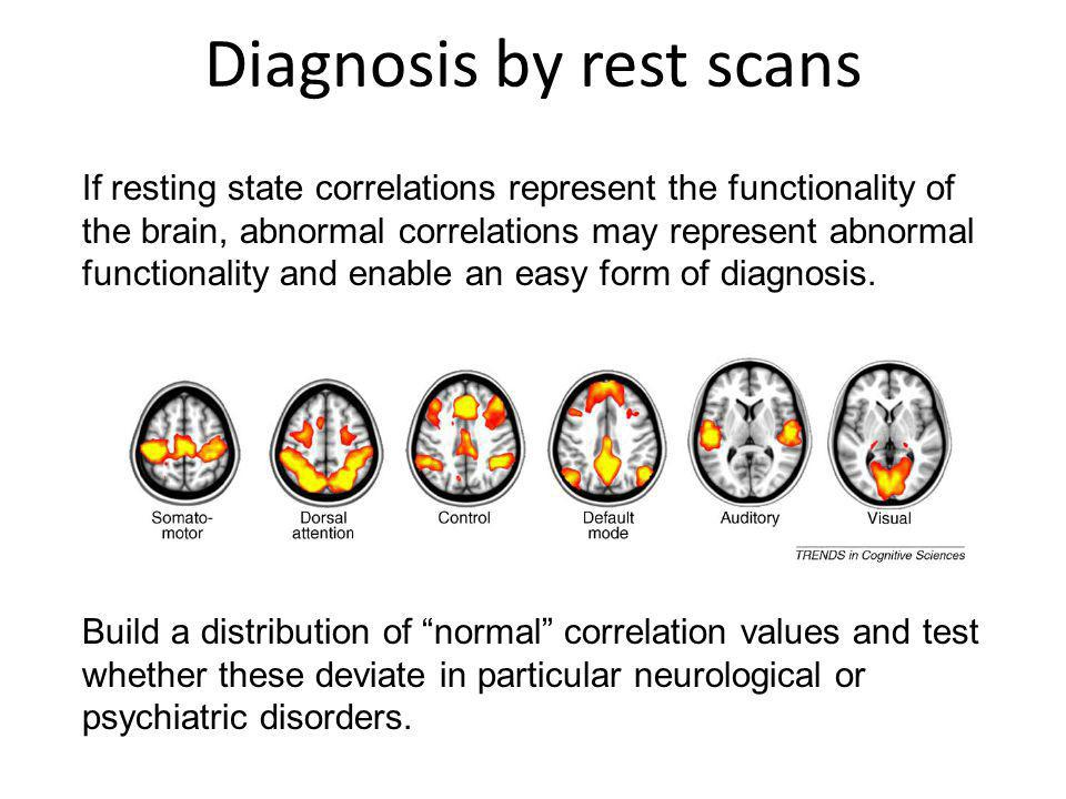 Diagnosis by rest scans