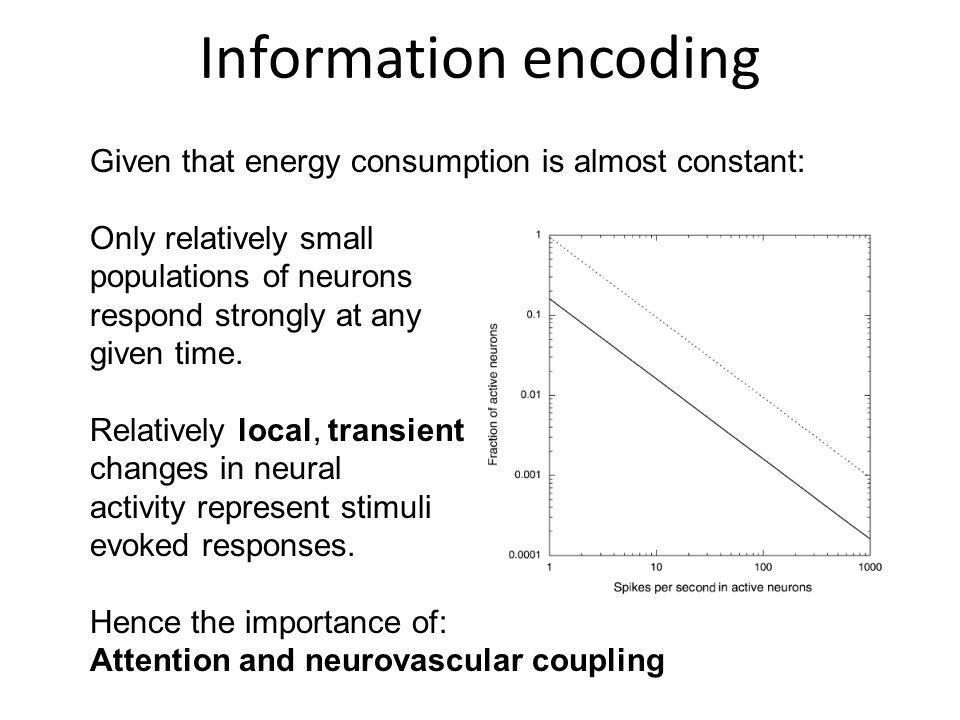 Information encoding Given that energy consumption is almost constant: