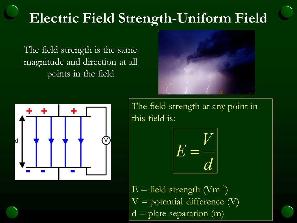 Electric Field Strength-Uniform Field