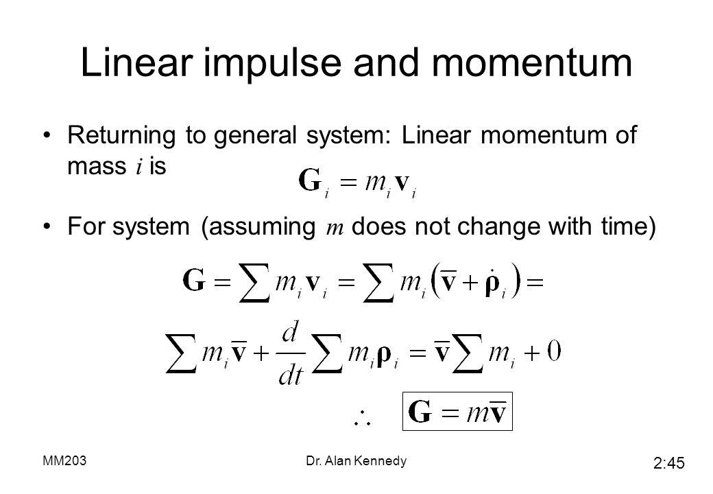 Linear impulse and momentum