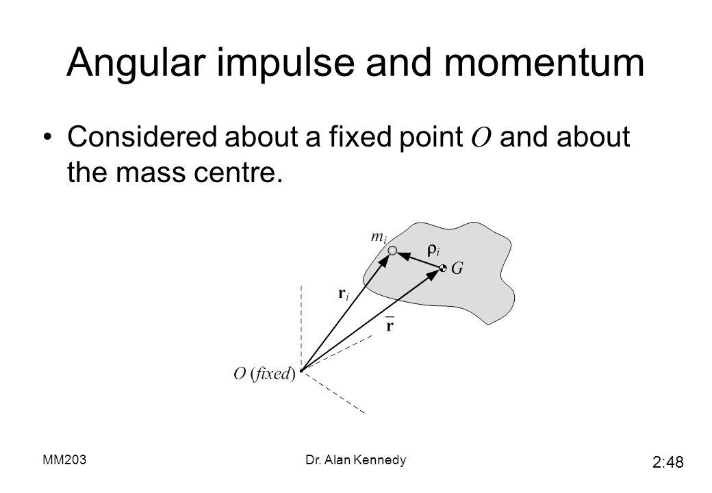 Angular impulse and momentum