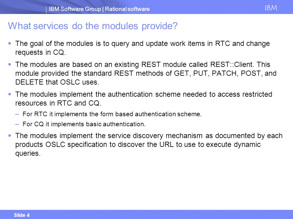 What services do the modules provide