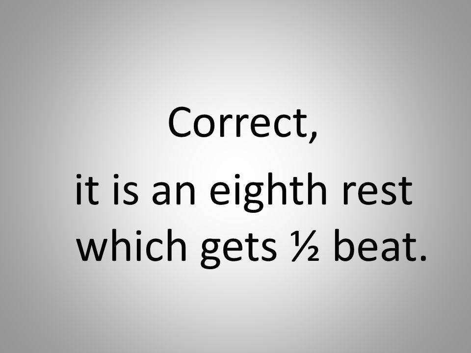 Correct, it is an eighth rest which gets ½ beat.