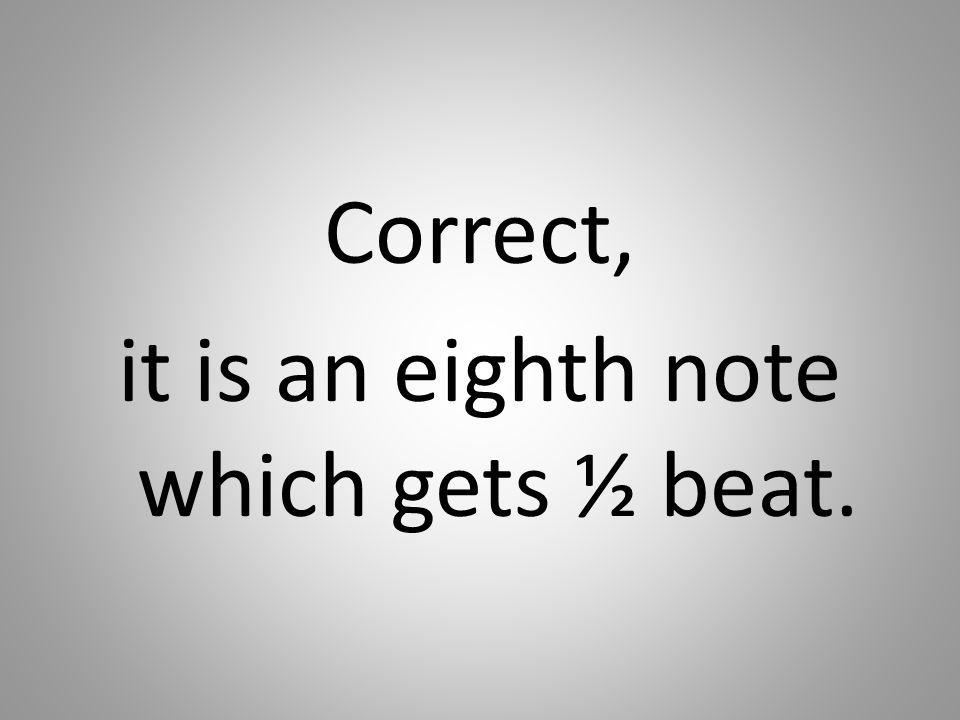 Correct, it is an eighth note which gets ½ beat.