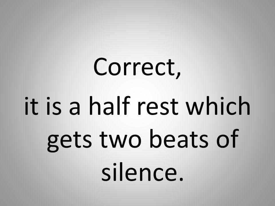 Correct, it is a half rest which gets two beats of silence.