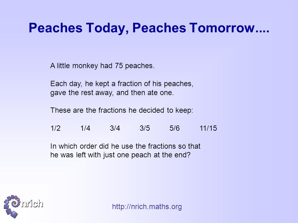Peaches Today, Peaches Tomorrow....