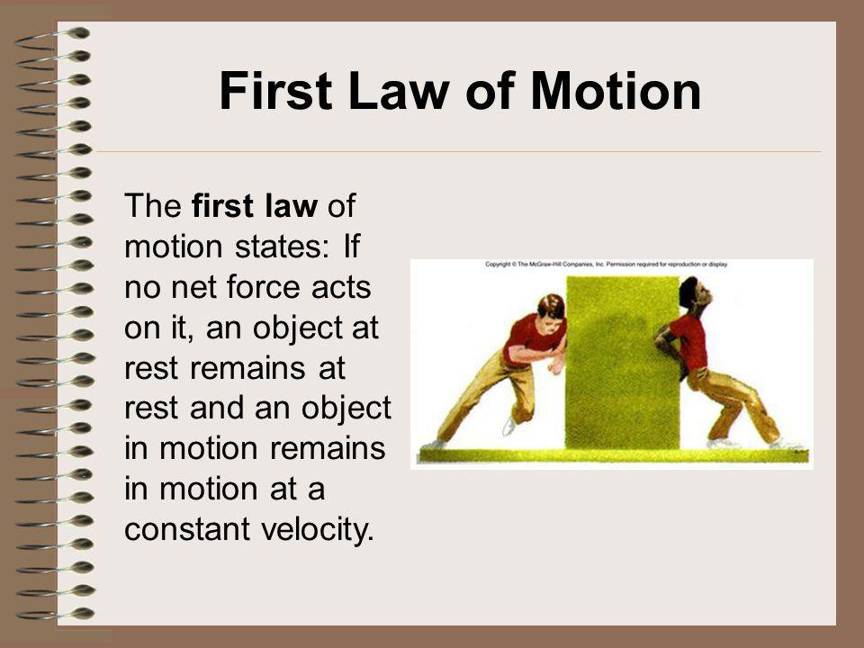 First Law of Motion
