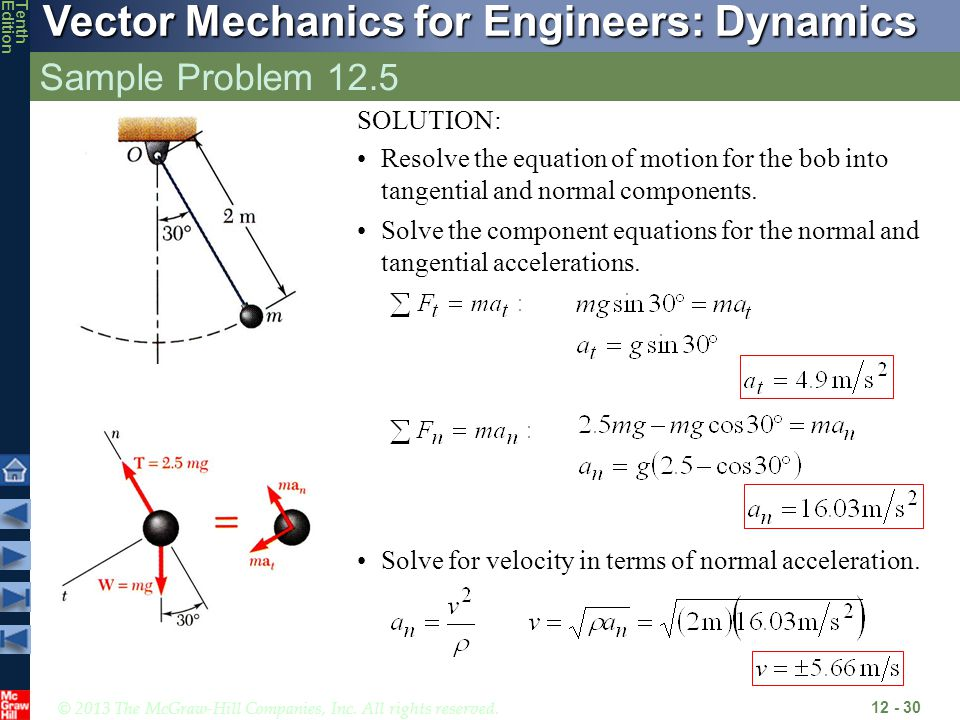 Sample Problem 12.5 SOLUTION: