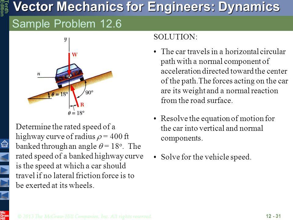 Sample Problem 12.6 SOLUTION: