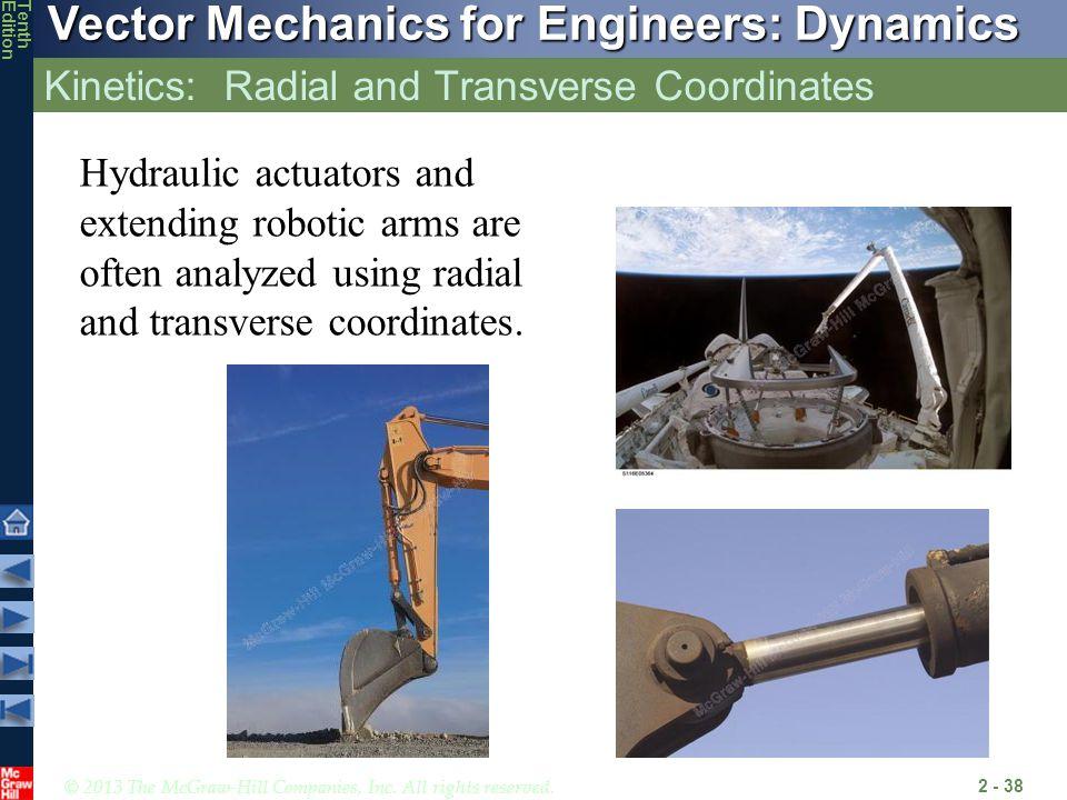 Kinetics: Radial and Transverse Coordinates