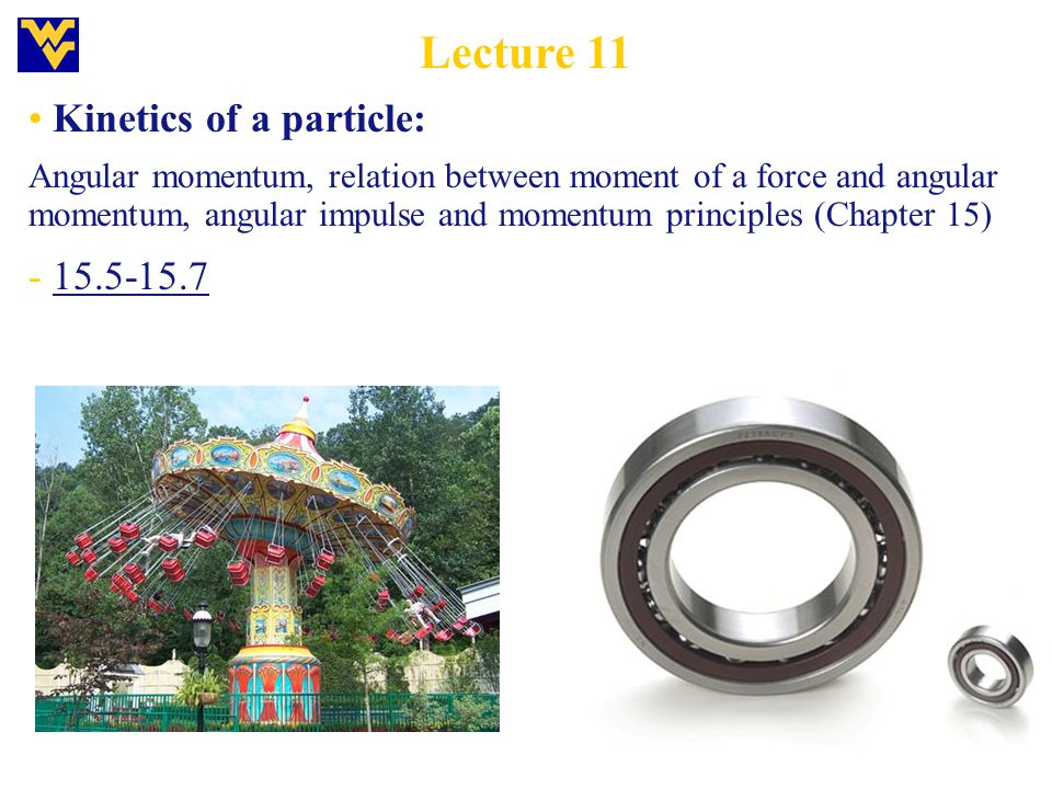 Lecture 11 Kinetics of a particle: - 15.5-15.7