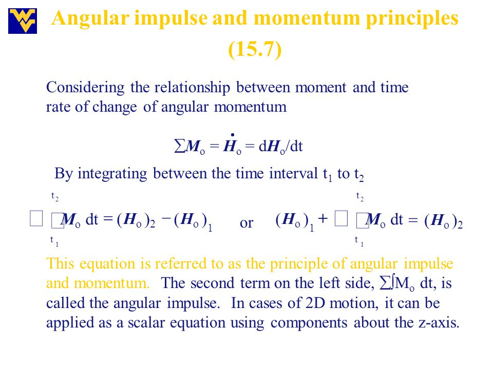 Angular impulse and momentum principles