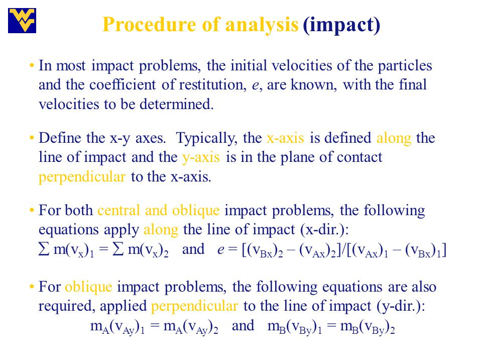 Procedure of analysis (impact)