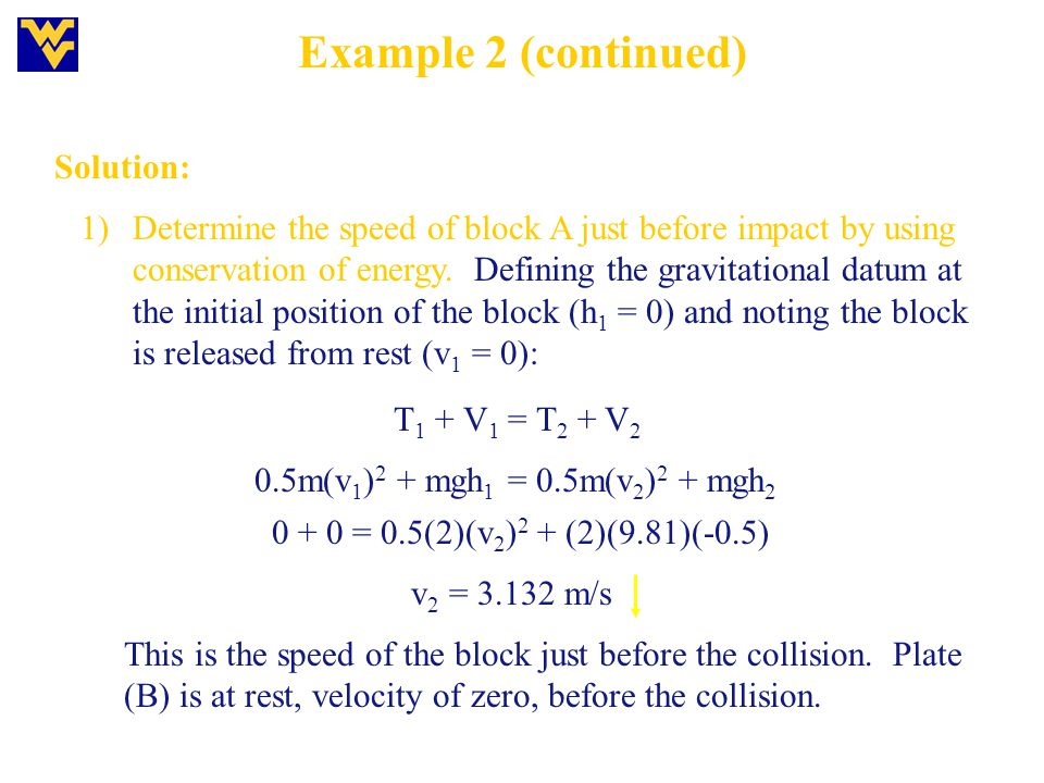 Example 2 (continued) Solution: