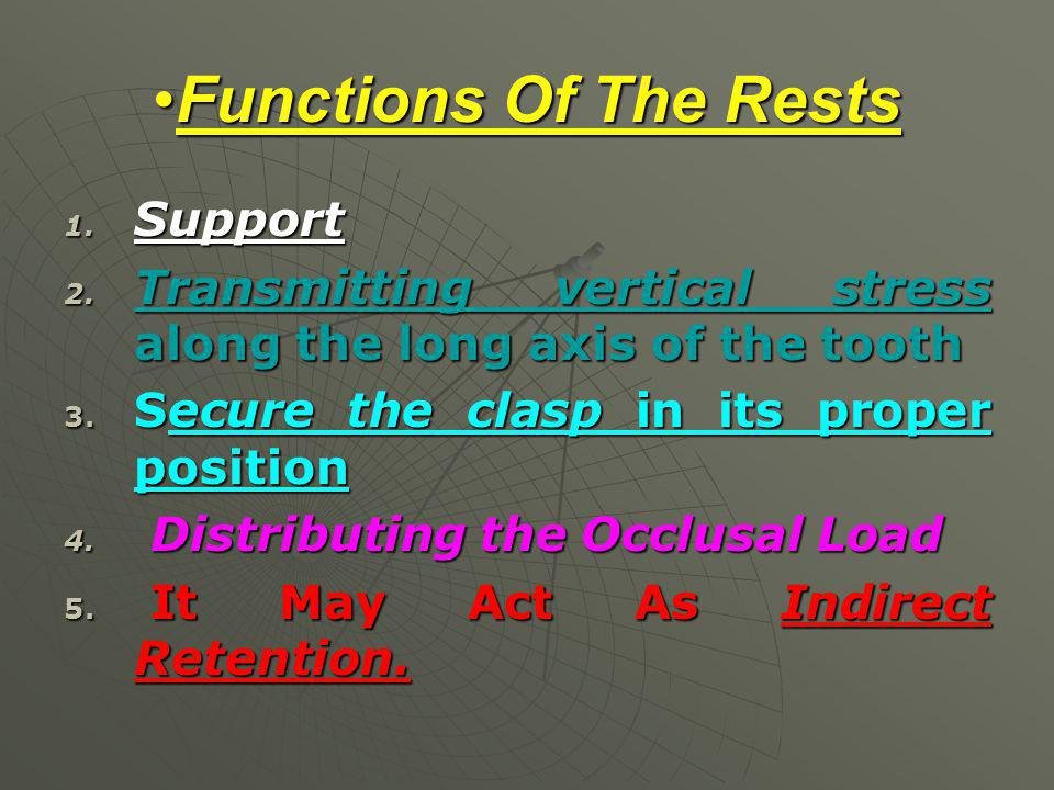 Functions Of The Rests Support