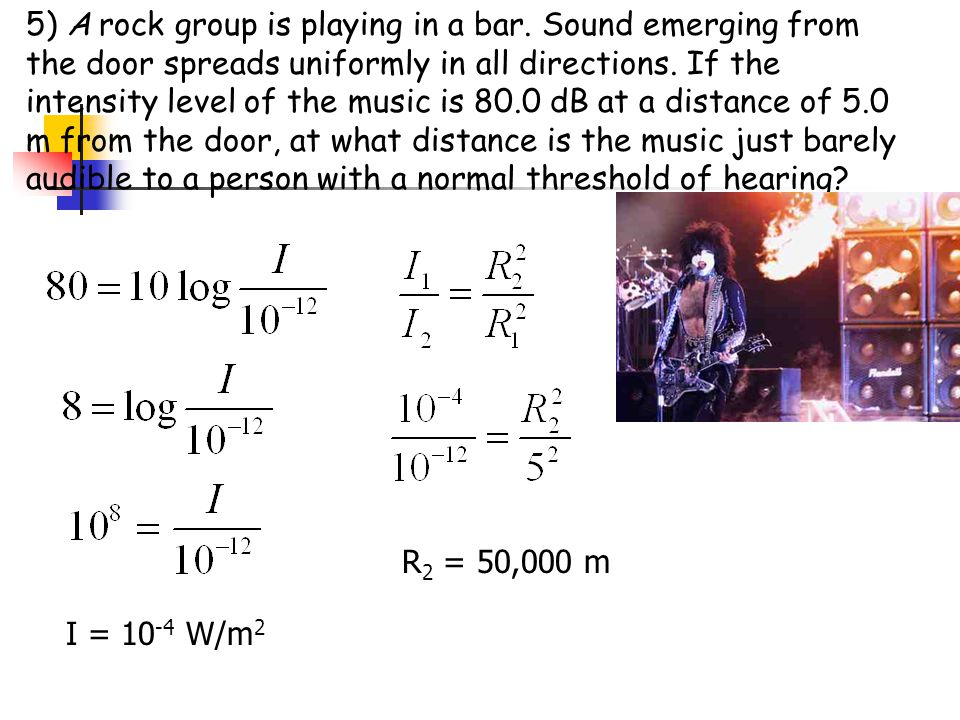 5) A rock group is playing in a bar