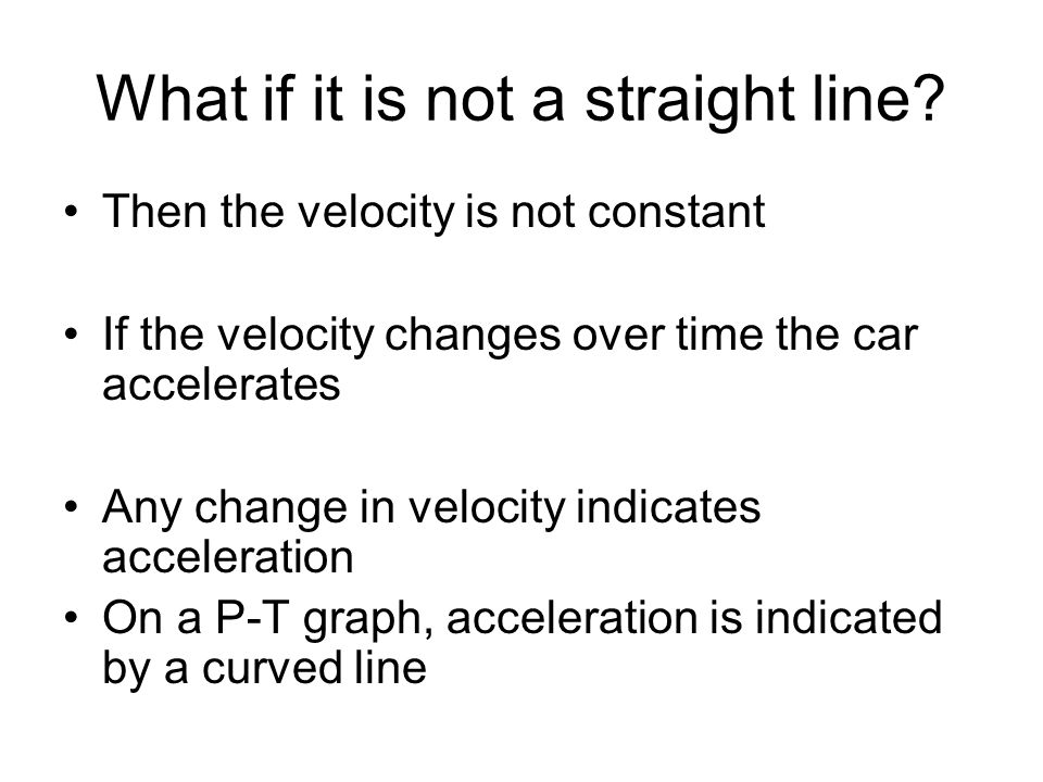 What if it is not a straight line
