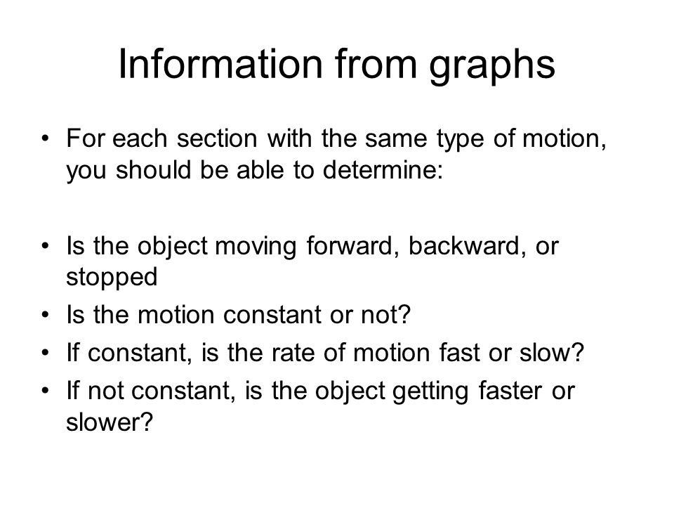 Information from graphs