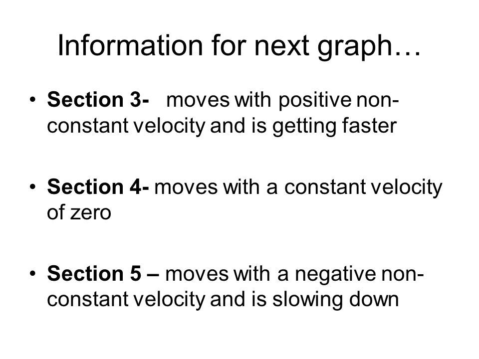 Information for next graph…