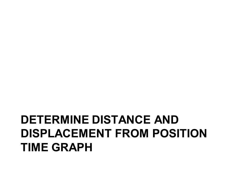 DETERMINE DISTANCE AND DISPLACEMENT FROM POSITION TIME GRAPH