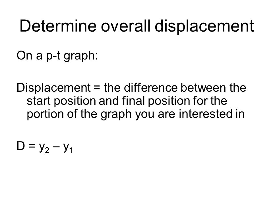 Determine overall displacement