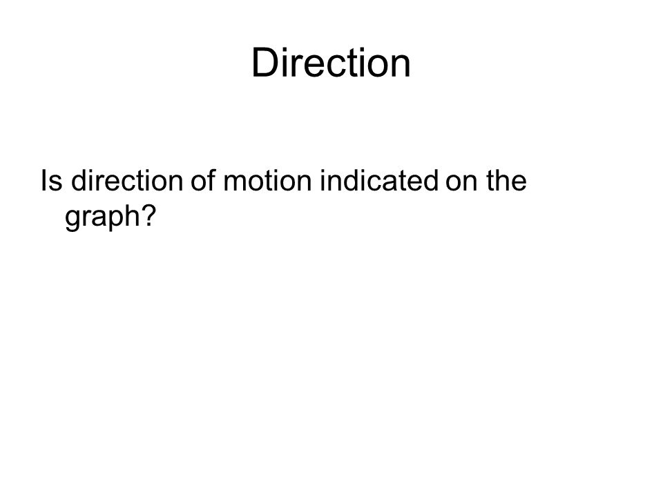 Direction Is direction of motion indicated on the graph