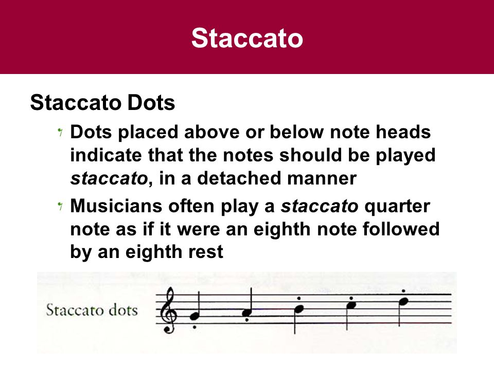 Staccato Staccato Dots