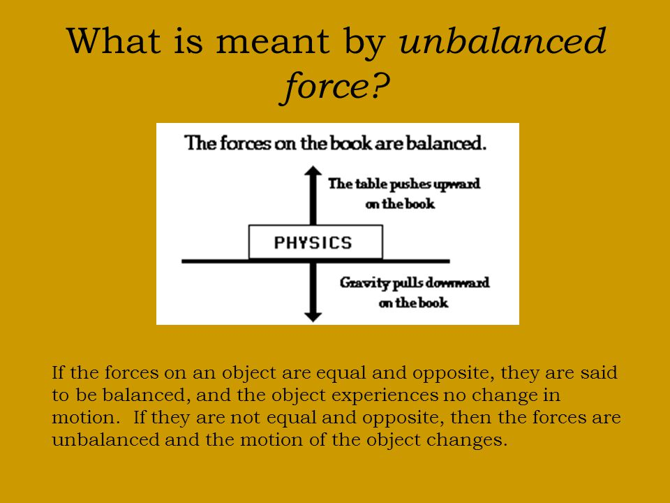 What is meant by unbalanced force
