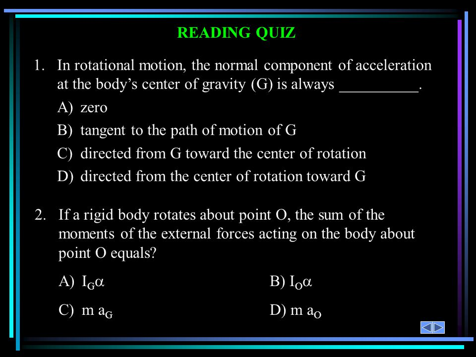 B) tangent to the path of motion of G