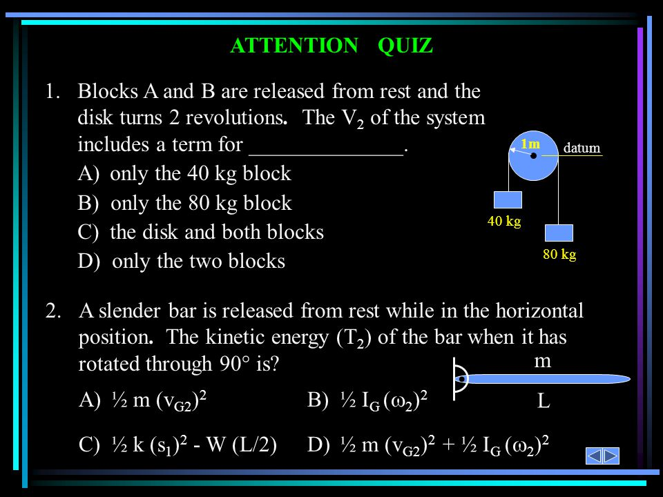 C) the disk and both blocks D) only the two blocks